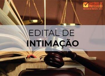 Publicação edital de intimação 22/07 1º Tabelionato Porto Velho
